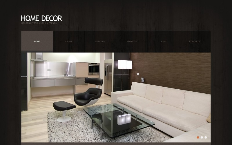Free Home Decor WordPress Layout & Website Template