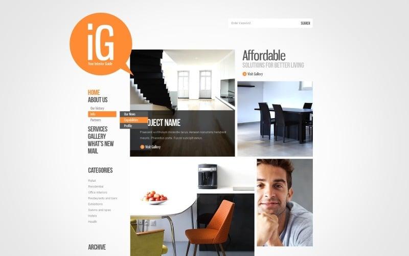 Free Home Design WordPress Layout & Website Template