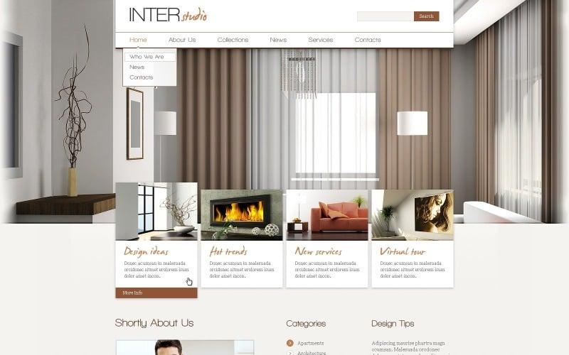 Free Indoor Design WordPress Website Template