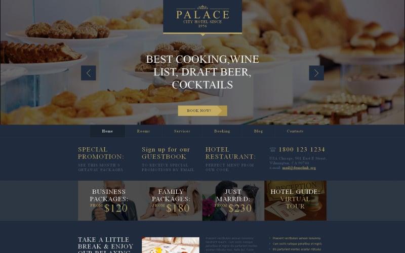 Free Motel WordPress Website Layout & Template