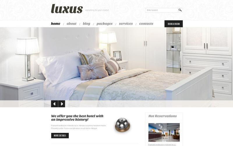 Ücretsiz Hostel WordPress Web Sitesi Düzeni ve Şablonu