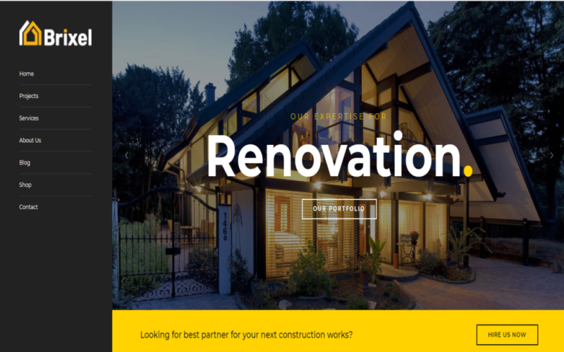 Brixal Building Construction Html Template