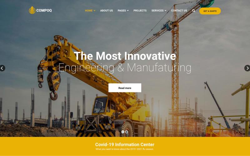 Compoq - Bau und Renovierung Joomla Templates