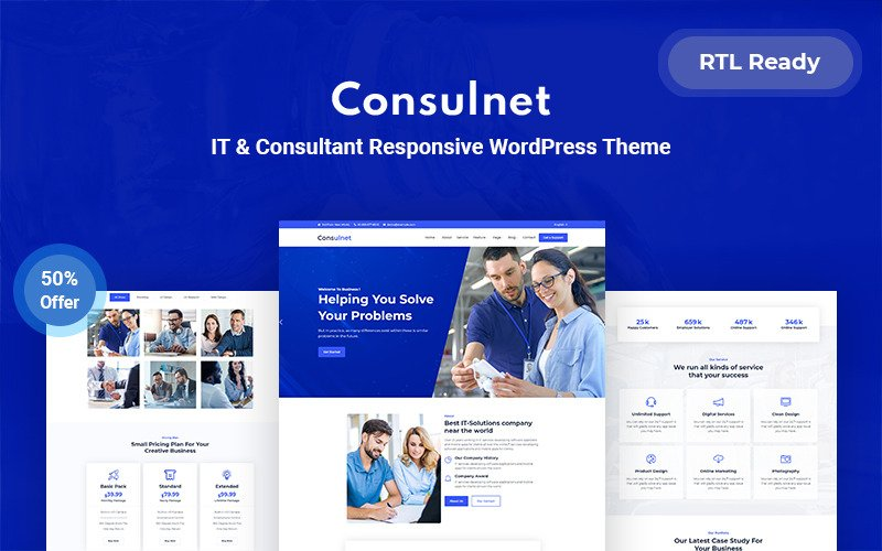 Consulnet - IT & Consultant Responsive WordPress Theme