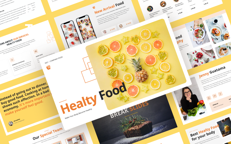 Healty Food — Food and Restaurant Powerporint Template