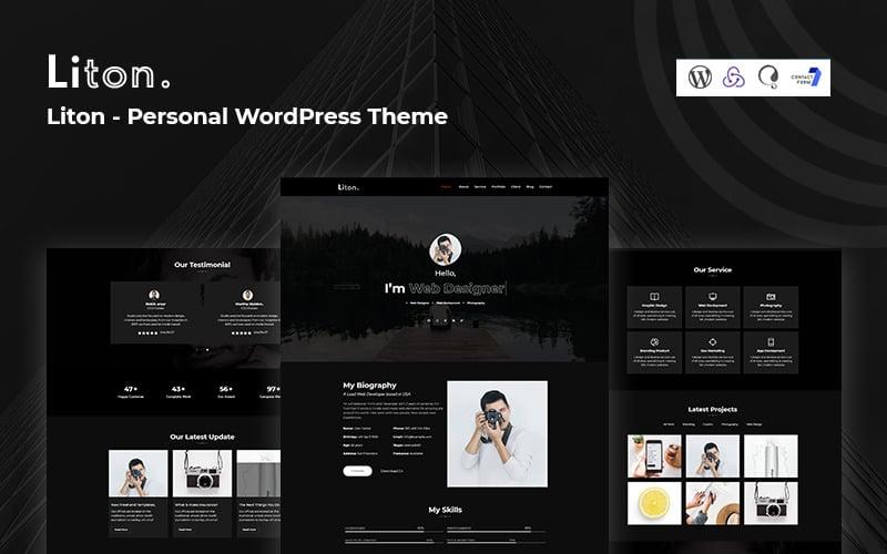 Liton -  Personal & CV Responsive WordPress Theme