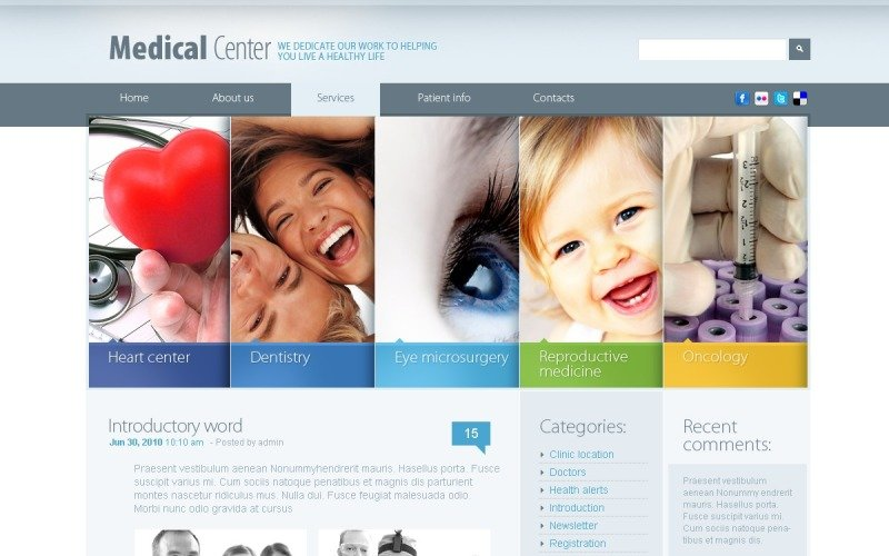 Free Health Care WordPress Theme