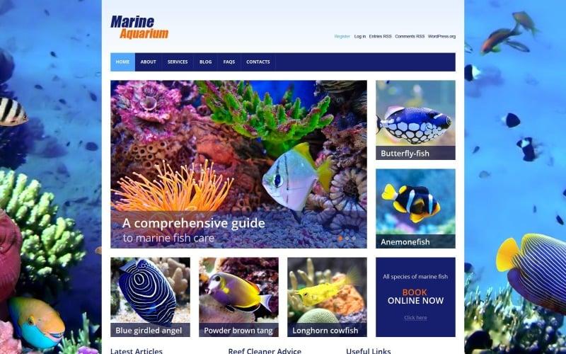 Free Marine Aquarium WordPress Design