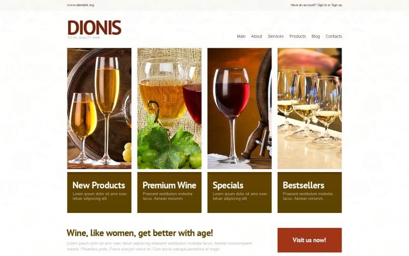 WordPress için Ücretsiz Hafif Şarap Teması
