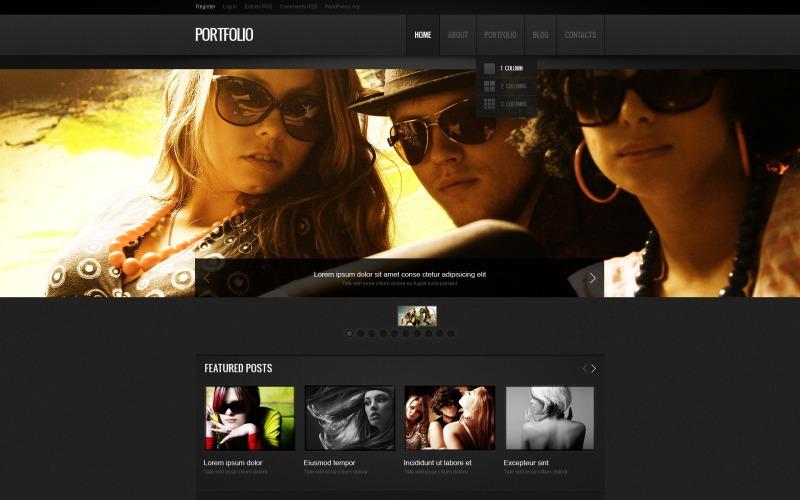 Free Photographer Portfolio Responsive WordPress Layouts