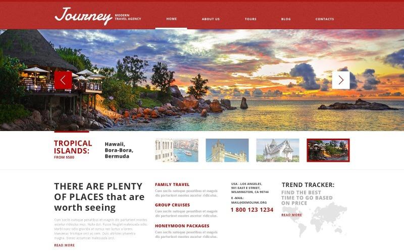 WordPress için Ücretsiz Pitoresk Seyahat Acentası Teması
