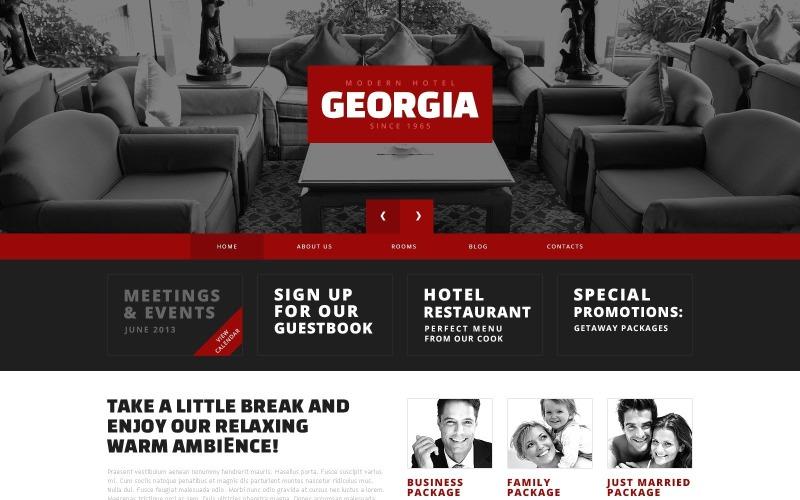 Ücretsiz Kırmızı Kontrast Otel WordPress Tasarımı