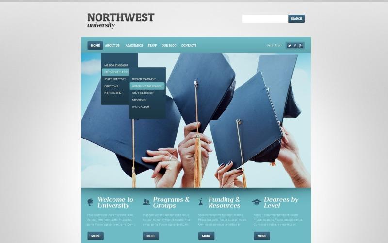 Gratis Responsive University Web Theme voor WordPress