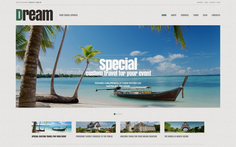Seyahat Acentası için Ücretsiz Duyarlı WordPress Teması