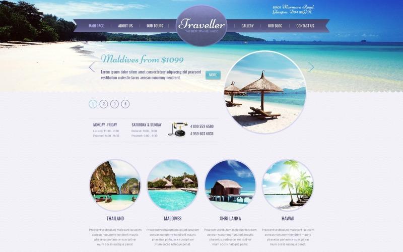Seyahat Acentesi için Ücretsiz Hafif WordPress Teması