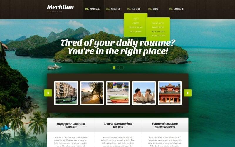 Ücretsiz Modern Seyahat Acentası WordPress Şablonu