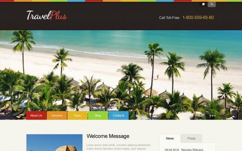 Ücretsiz Parlak Seyahat Acentası WordPress Teması