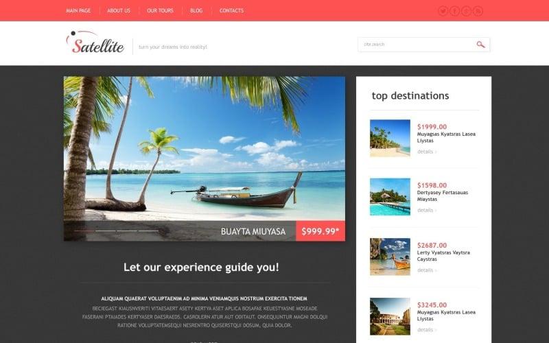 Ücretsiz Seyahat Acentası Web Sitesi WordPress Tasarımı