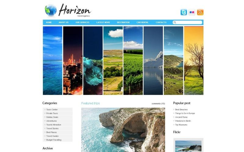 Ücretsiz Seyahat Acentası WordPress Şablonu