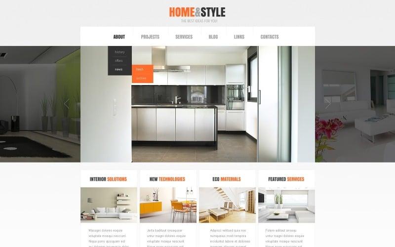 Free Modern White Interior Design WordPress Template