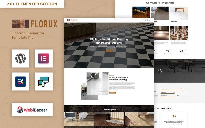 Florux - Paving & Tiling Services Elementor WordPress