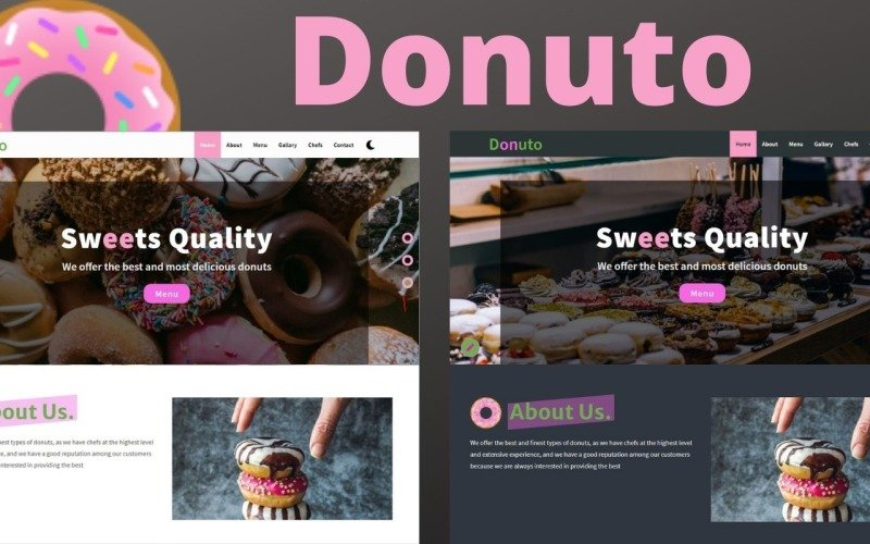 Donuto - Donuts Restaurant Landing Page Template