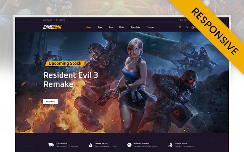 GameHoak - Thème Woocommerce de magasin de jeux en ligne