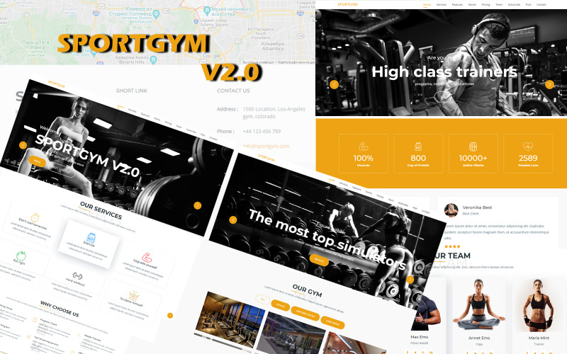 Wordpress Sport Landing Template Bootstrap Sportgym V2.0 - Cool Solution For Fitness And Not Only