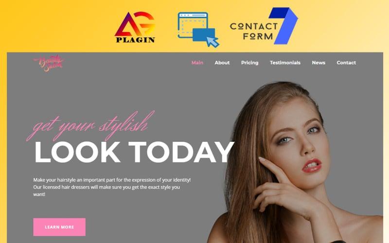 Beauty Saloon - Responsive and Multipurpose OnePage WordPress Theme