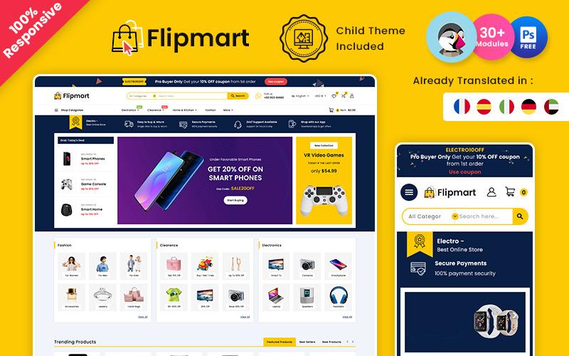 Flipmart – Marché électronique Boutique Prestashop