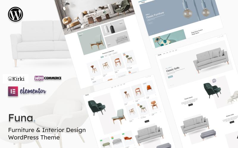 Funa - Тема WooCommerce для дизайна мебели и интерьера