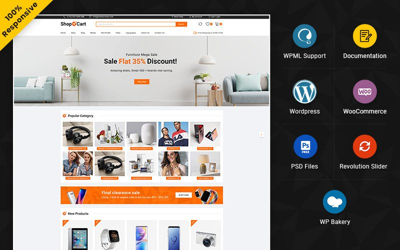 ShopCart – Mega Shop Boutique WooCommerce polyvalente