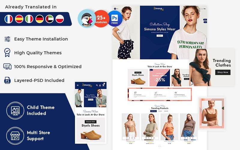 Simona - тема PrestaShop для интернет-магазина модной одежды