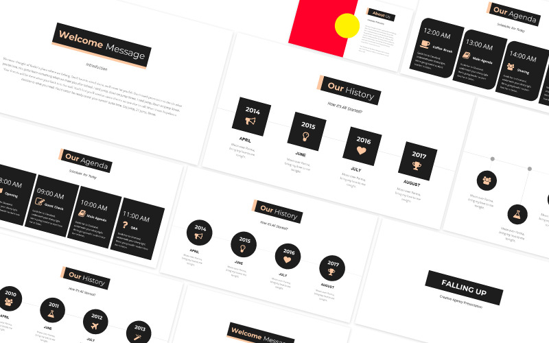 Falling Up Creative Powerpoint Template