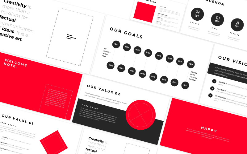 Happy Creative Agency Powerpoint Template