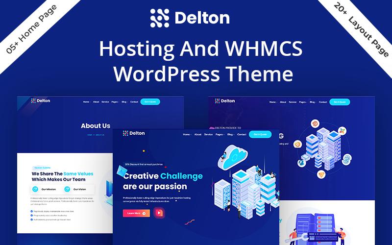 Delton Hosting & WHMCS WordPress Theme