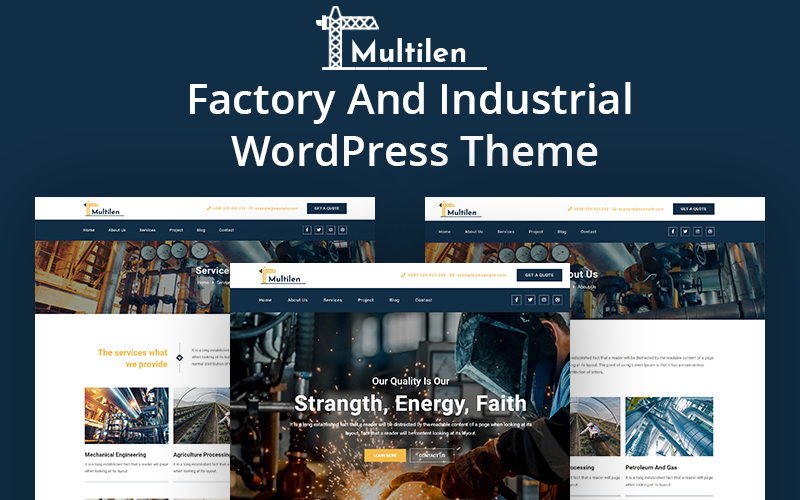Multilen Industry & Factory WordPress