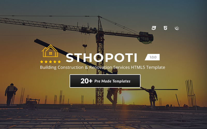 Sthopoti - Building Construction & Renovation Services HTML5 Template
