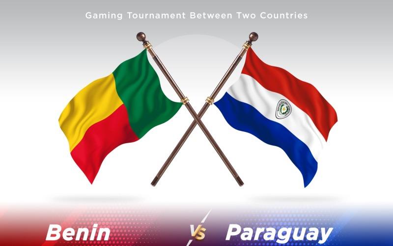 Benin versus Paraguay Two Flags