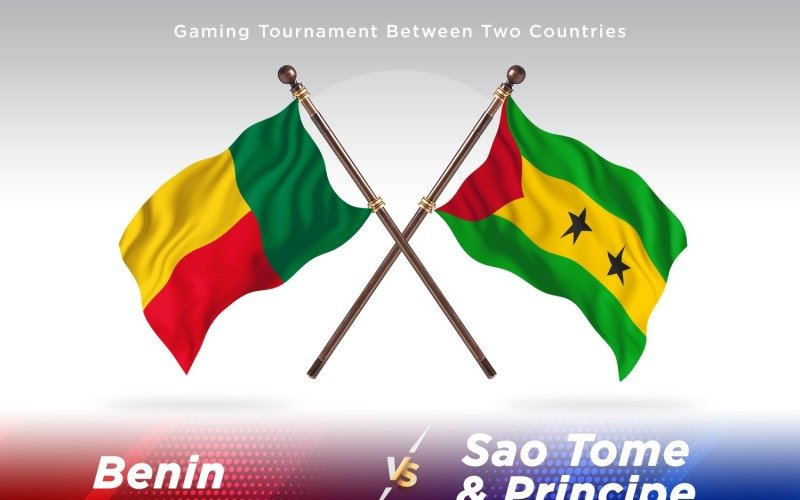 Benin versus Sao tome _ Principe Two Flags
