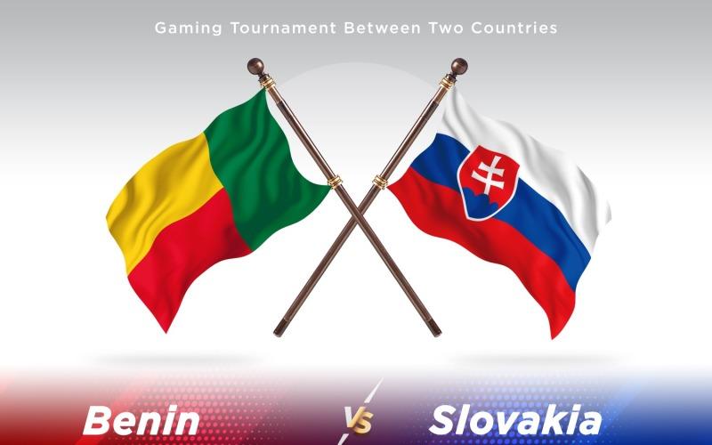 Benin versus Slovakia Two Flags