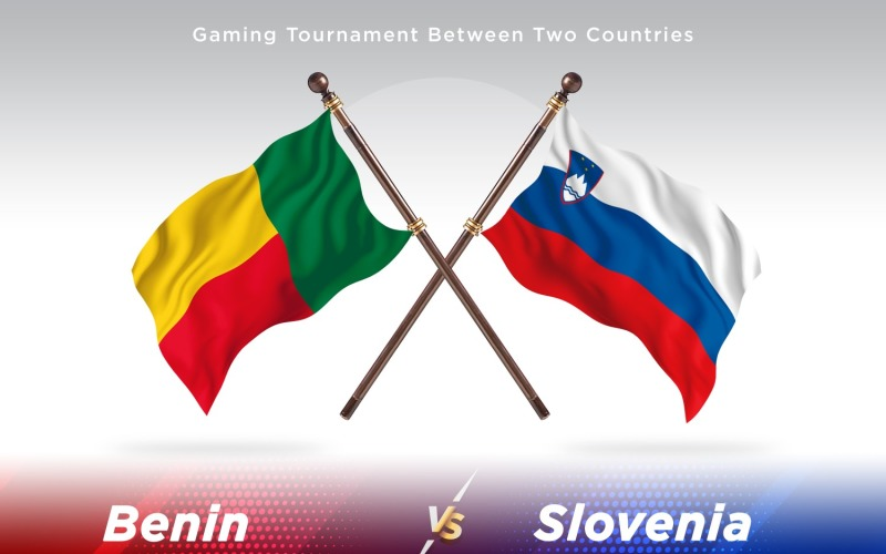 Benin versus Slovenia Two Flags