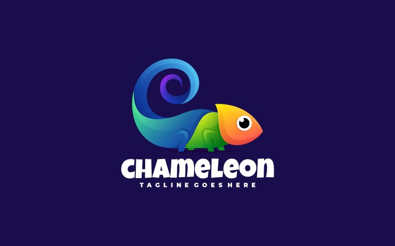 Chameleon Colorful Logo Style