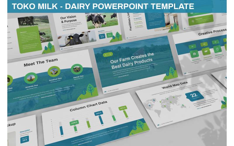 Toko Milk - Milch-Powerpoint-Vorlage