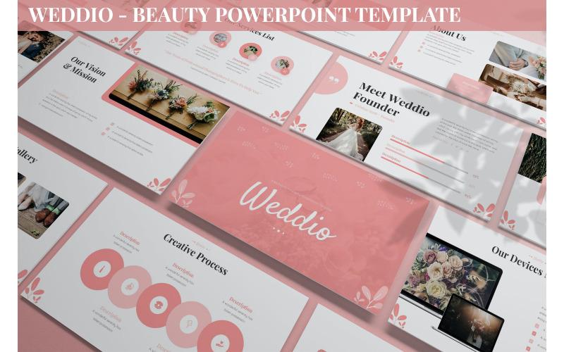 Weddio - Beauty Powerpoint-Vorlage