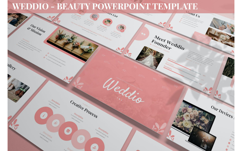 Weddio - Modèle Powerpoint Beauté