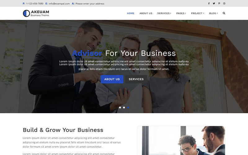 Akeuam - Многоцелевая тема Bootstrap 5