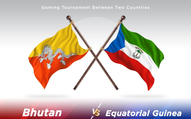 Бутан против экваториальной гвинеи Два флага