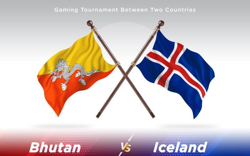 Бутан против Исландии Два флага