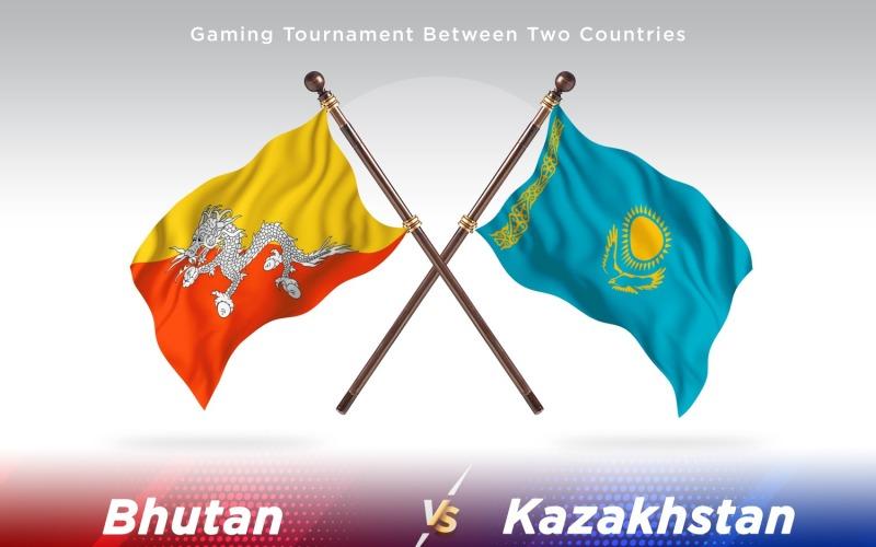 Бутан против Казахстана: два флага